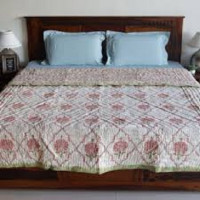 Cotton Printed Quilts & Magazine Holders
